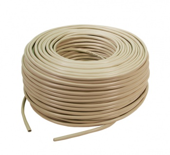 LogiLink® Verlegekabel, Cat. 5e, F/UTP, PVC, 50m Rolle[CPV0029]