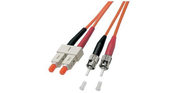 kabelmeister® Patchkabel LWL Duplex OM2 (Multimode, 50/125) ST/SC, 1m