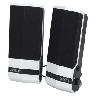 Aktivlautsprecher 2.0 Stereo, schwarz/silber, Logilink® [SP0026]