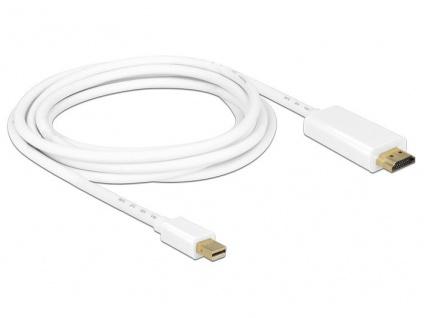 Anschlusskabel mini DisplayPort 1.1 Stecker an HDMI A Stecker, weiß, 3m, Delock® [83708]