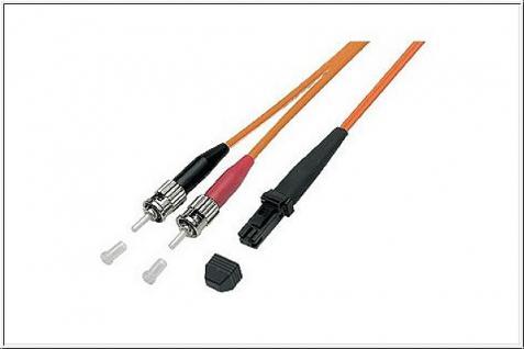 kabelmeister® Patchkabel LWL Duplex OM1 (Multimode, 62, 5/125) MT-RJ/ST, 1m