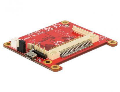 Konverter Raspberry Pi, USB Micro-B Buchse / USB Pin Header an Compact Flash, Delock® [62625]