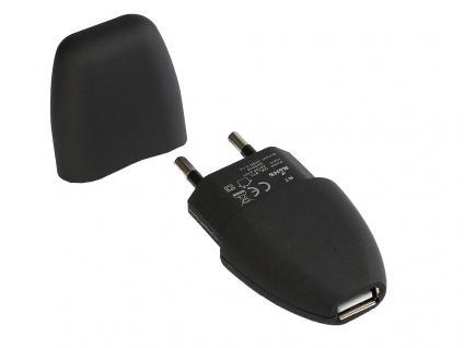 USB Netzteil 230V auf 5V, 1Port mit 1A, mit Schutzkappe, Oberfläche gummiert