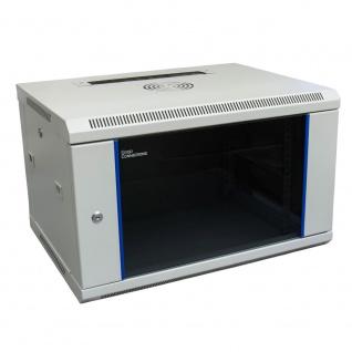 19' Wandgehäuse, 6HE, lichtgrau (RAL7035) 600 x 450mm, fertig montiert, Good Connections®