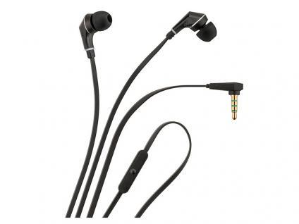 In-Ear Kopfhörer mit Freisprecheinrichtung, schwarz, 1, 2m