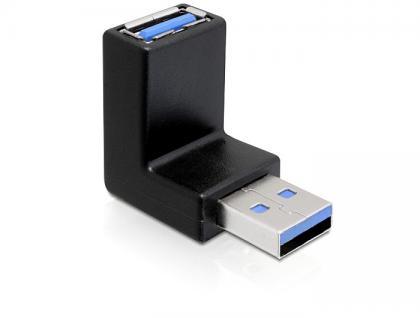 Adapter, USB 3.0, Stecker an Buchse, 270____deg; (vertikal gewinkelt), Delock® [65340]