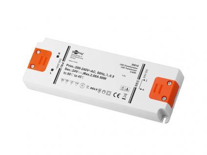 LED Transformator 0-50 Watt, DC-Betrieb