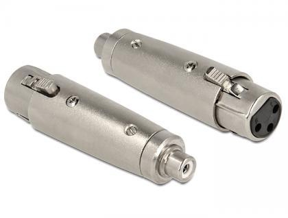 XLR Adapter, 3pol XLR Buchse an Cinchbuchse, Delock® [84627]