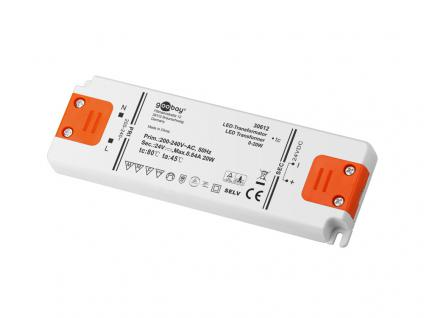 LED Transformator 0-20 Watt, DC-Betrieb