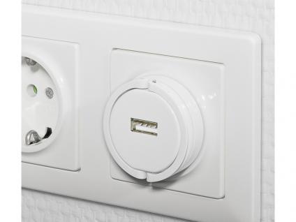 Adapter USB-Ladegerät 1000 mA lädt z.B. Tablets & Smartphones an der Steckdose, weiß