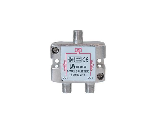 SAT Stammverteiler mit F-Connectoren 2-fach 5-2250 MHz