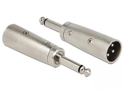 XLR Adapter, 3pol XLR Stecker an 6, 35 mm Klinkenstecker, mono, Delock® [84622]