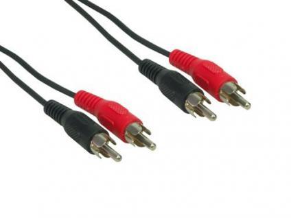 kabelmeister® Cinch-Kabel, 2x Cinch Stecker an 2x Cinch Stecker, 20m