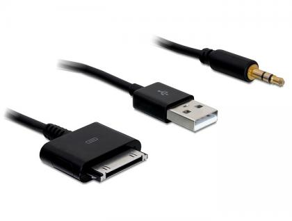 iPhone 3G Kabel > Audio Klinke + USB 1m, Delock® [82703]