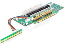 Schnittstellenkarte, Riser PCI Express x16 an 2x PCI, 1x PCI Express x16, Delock® [89151]