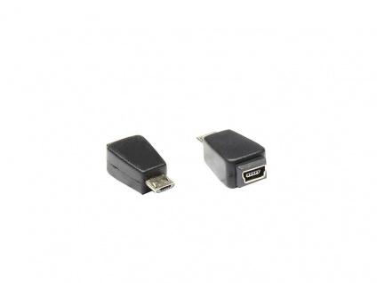 Adapter USB micro-B Stecker zu mini USB 5pin Buchse, Good Connections®
