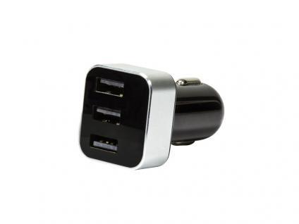 KFZ USB-Ladegerät 15, 5W, mit Display, 3x USB-Port, LogiLink® [PA0107]