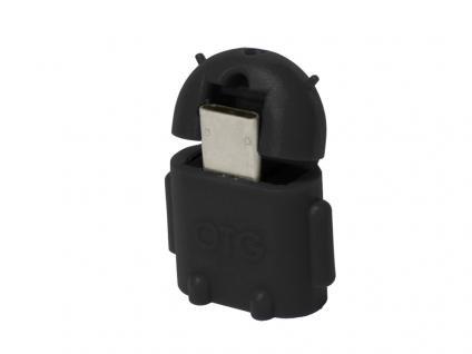 Adapter USB 2.0 Micro B Stecker an A Buchse OTG, schwarz, LogiLink® [AA0062]