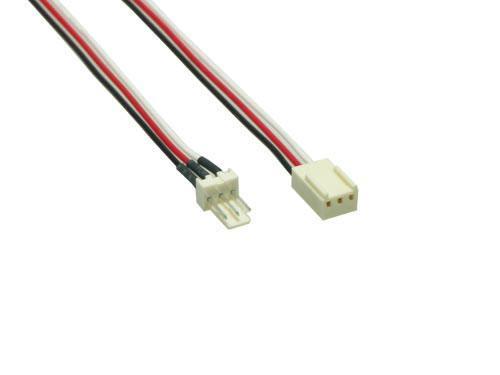 kabelmeister® Lüfter Verlängerungskabel, 3pin St/Bu, ca. 30cm