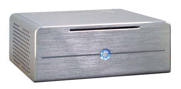 Mini-ITX Gehäuse, 84W Alu, silber