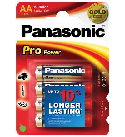 Panasonic® Pro Power Batterie (Alkali Mignon) LR 6 PPP (AA) 1, 5V, 4er Pack in Blister