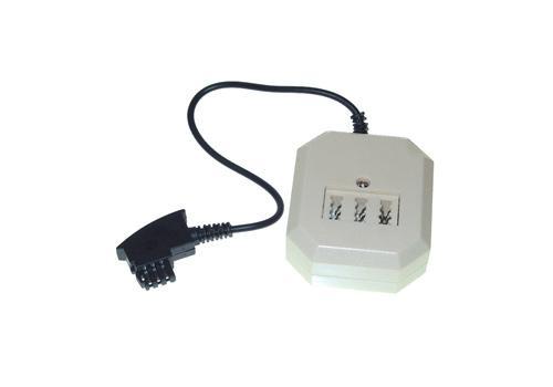 kabelmeister® Telefontischsteckdose F Stecker an NFF + 6p4c (RJ11) Buchse, Länge:0, 2m