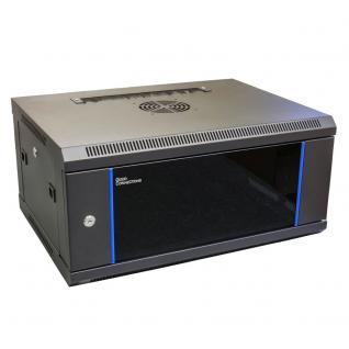 19' Wandgehäuse, 4HE, tiefschwarz (RAL9005) 600 x 450mm, fertig montiert, Good Connections®