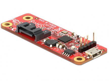 Konverter Raspberry Pi USB 2.0 an SATA 7-Pin, Delock® [62626]