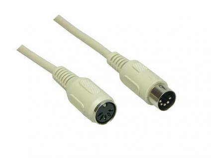 kabelmeister® Tastaturverlängerung, DIN 5-pol Stecker an Buchse, Länge: 1, 8m