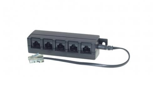 ISDN 5-fach Verteiler mit 0, 1 kOhm Widerstand + 0, 2m Kabel
