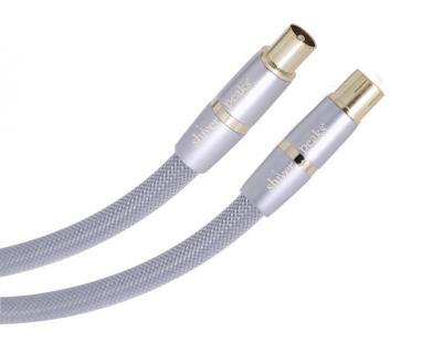 Shiverpeaks® High End Antennenkabel, Koax-Stecker auf Koax-Kupplung, 10, 0m