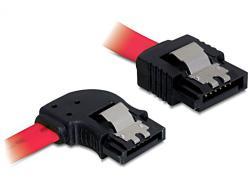 Anschlusskabel, SATA bis 3Gb/s, abgewinkelt, links/gerade Metall, rot, 0, 5m, Delock® [82603]