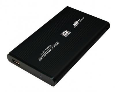 LogiLink® Festplattengehäuse 2, 5 Zoll S-ATA USB 2.0 Alu, schwarz [UA0041B]