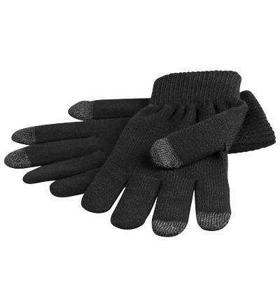 Touchscreen-Handschuhe (schwarz), Größe M, z.B. für Apple iPhone, iPad