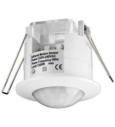 Bewegungsmelder Infrarot, Unterputz, Indoor, Überwachungswinkel 360____deg;