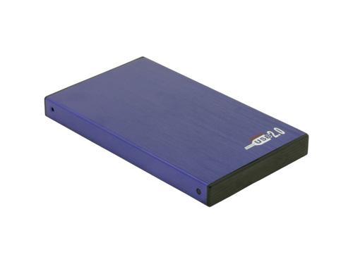 HD-Gehäuse 2, 5' USB2.0 Alu, blau, Delock® [42365]