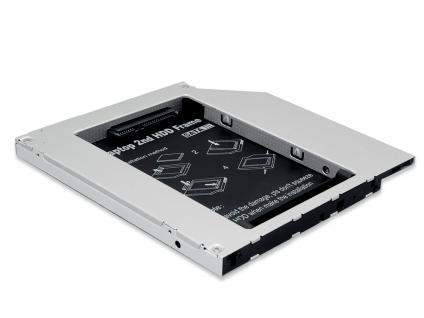 Einbaurahmen für den CD/DVD/Blu-ray Laufwerksschacht SSD/HDD SATA auf IDE 9, 5mm Bauhöhe, Digitus® [DA-71101]