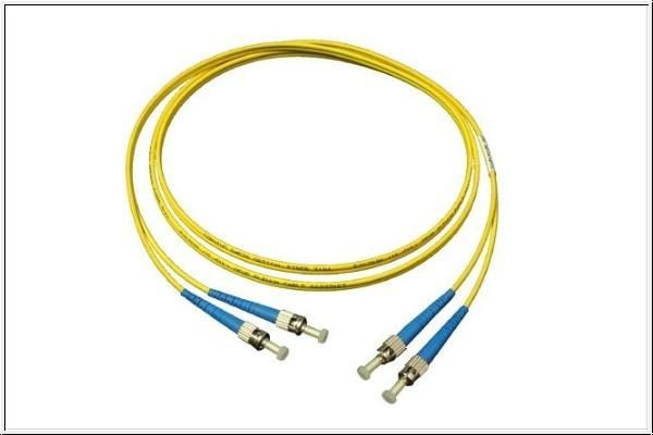 kabelmeister® Patchkabel LWL Duplex OS1 (Singlemode, 9/125) ST/ST, 2m