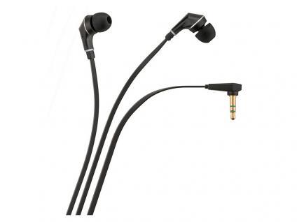 In-Ear Kopfhörer für alle gängigen Smartphones und Tablets, schwarz, 1, 2m