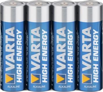 Varta® Batterie, High Energy (Alkaline), LR6 (AA), 1, 5V, 4er Pack in Folie