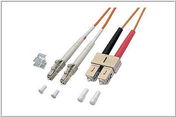 kabelmeister® Patchkabel LWL Duplex OM1 (Multimode, 62, 5/125) LC/SC, 20m