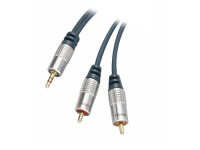 Home Cinema Kabel, 3, 5mm Klinke Stecker auf 2x Cinch Stecker, 5m
