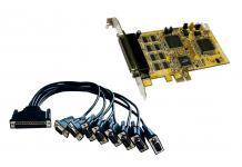 PCI Express Karte 8 x Seriell RS-232, Exsys® [EX-44098-2]