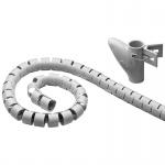 WireTube, robuster Spiralschlauch gegen den Kabelsalat, 2, 5m, silber