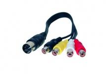 Audio Adapter 5-pol DIN St. an 4 x Cinch Bu. Länge: 20cm, Good Connections®