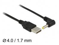 Kabel USB Power an DC 4, 0 x 1, 7 mm Stecker 90____deg; 1, 5m, Delock® [83574]