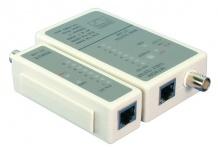 LogiLink® Kabeltester für RJ45 und BNC mit Remote Einheit [WZ0011]