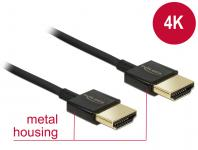 Kabel High Speed HDMI mit Ethernet - HDMI-A Stecker an HDMI-A Stecker 3D 4K 1 m Slim Premium, Delock® [84771]