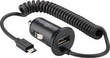 KFZ USB-Ladeadapter, Micro B Stecker + 1x USB-Port, 12-24V, 2, 4 A