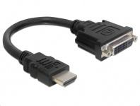 Adapter HDMI Stecker zu DVI 24+1 Buchse, schwarz, Delock® [65327]